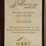 Meta 2006 Awards Residential Interior Over 100,000 Platinum