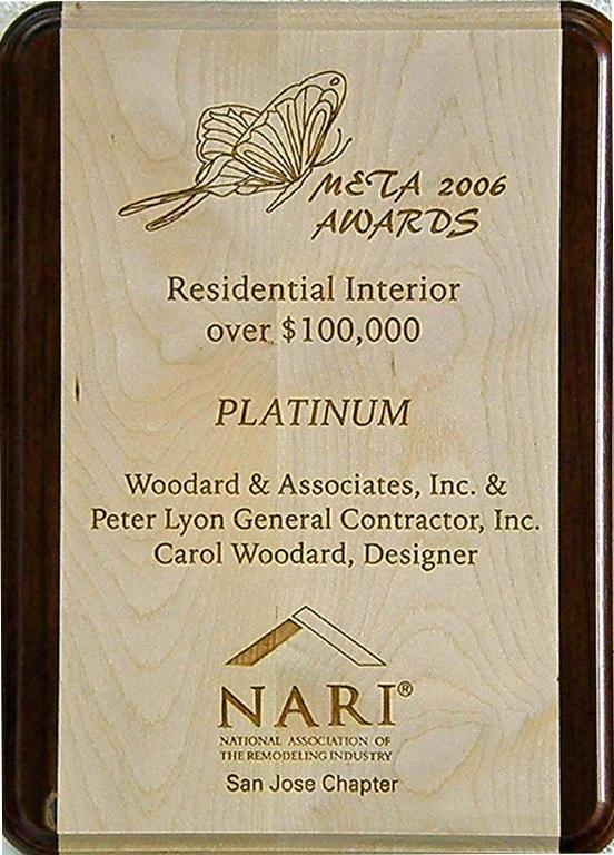 Meta 2006 Awards Residential Interior Over 100,000 Platinum